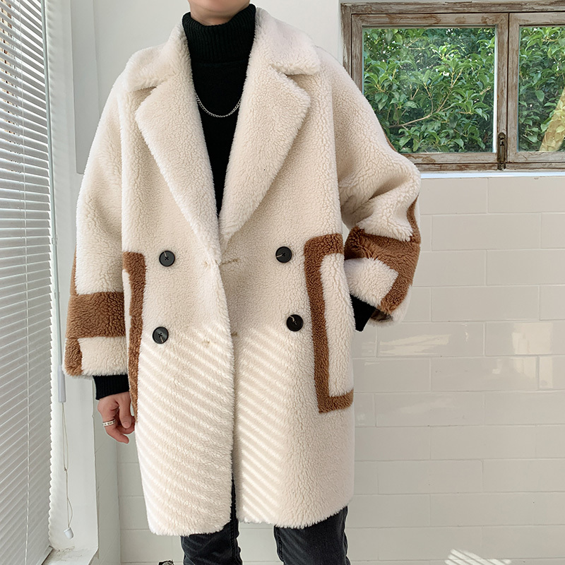 Prendas de vestir de otoño chaquetas de felpa chaqueta cuero hombre invierno de lana de piel mullida chaquetas puente prendas de vestir de gran tamaño cálido