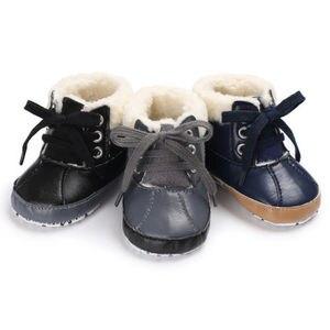 Новинка 2020 года; зимняя обувь для маленьких мальчиков; зимняя теплая обувь для младенцев; ботинки из искусственного меха для маленьких маль...