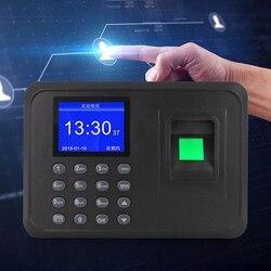 Urządzenie do rejestracji obecności z czytnikiem linii papilarnych wyświetlacz LCD USB linii papilarnych system frekwencji zegar pracownik rejestrator (ue wtyczki) w Rejestratory czasu pracy od Komputer i biuro na