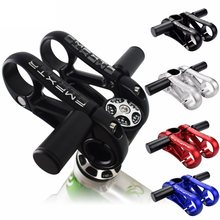 Bicycle Small Auxiliary Handlebar Adjustable Hollow Height Enhancer 28.6/31.8mm Aluminum Alloy Mountain Bike Bar End(China)