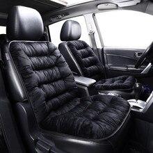 Winter Car Seat Cover Warm Plush Car Front Rear Seat Cushion  Anti slip Universal Vehicle Automobile Car Seat Protectors Mat