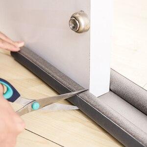 Black Rubber Seal Weathering Strip Sound Proof Noise Reduction Draft Stopper Under Door Draft Stopper For Door Protector Strip