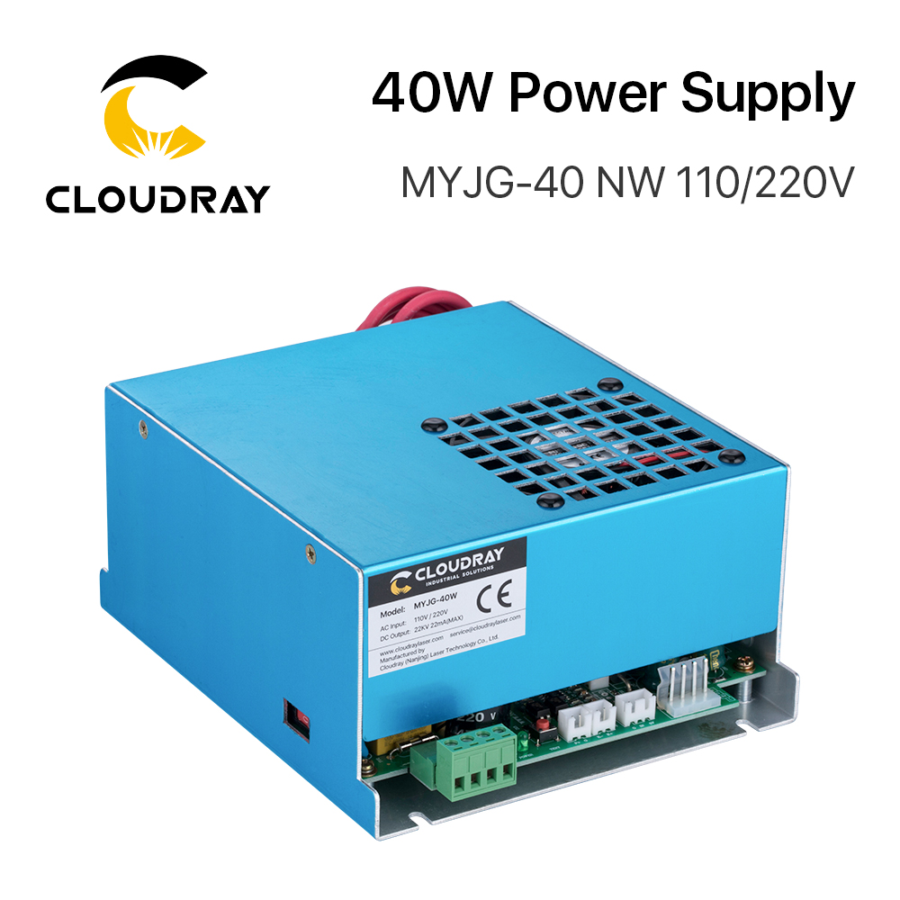 Cloudray 40W CO2 Laser Power Supply MYJG-40 110V 220V For CO2 Laser Engraving Cutting Machine 35-50W MYJG