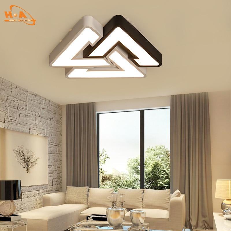 LED Ceiling Lamp Creative Triangular Living Room Lamp Bedroom Lamp Restaurant Balcony Lighting Simple Post-modern Lamps
