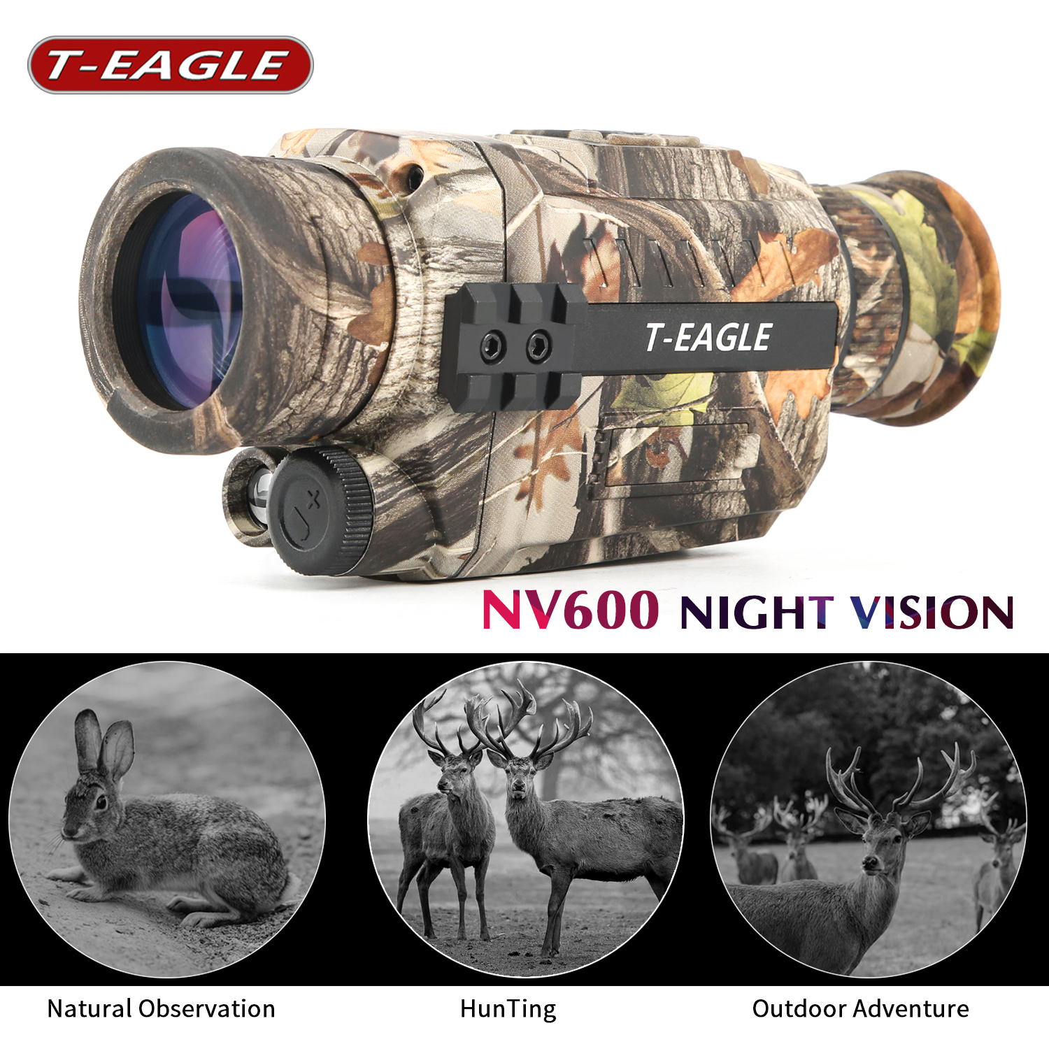 NV6010 Night Vision 5X Infrared Digital Camera Vedio 200m Range Monocular Scope For Hunting Tactical Infrared Night Vision