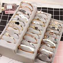 Bracelet Bangle Rose-Gold Titanium Steel Wholesale Mixed-Bag Fashion 20pcs/Lot