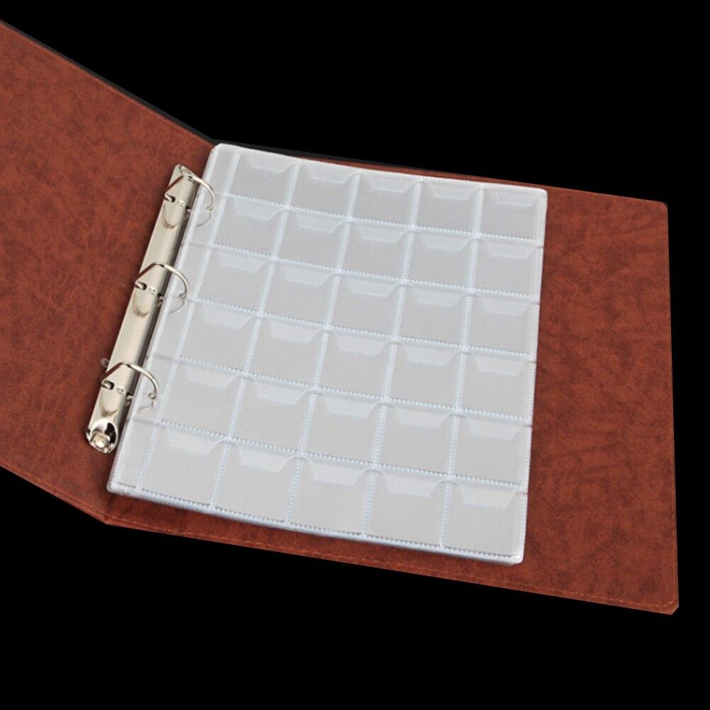 Organizador de monedas de plástico con 30 bolsillos, 1 o 2 hojas, colección de almacenamiento, Material de PVC, estuche para álbum, alta calidad