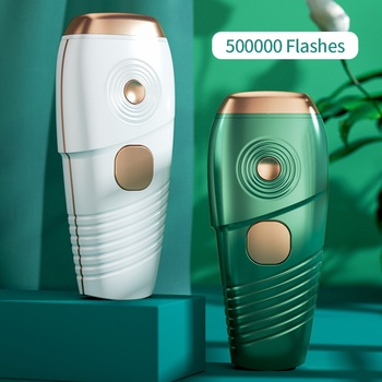 Fashion Green 500000 Flash Hair Remover Ipl Laser Epilator Electric Epilator Painless Bikini Trimmer Whole Body Hair Removal 2017 hot sale ladies rechargeable cordless electric tweezers body facial hair removal remover epilator trimmer