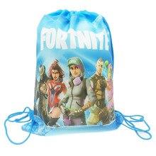 Сумка на шнурке Fortnites, детский карман из нетканого материала, Подарочная сумка с рисунком аниме крепости, для ночного хранения