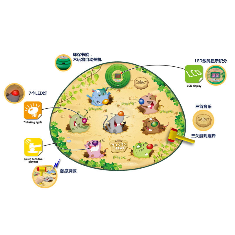 Hot Selling CHILDREN'S Toy Qiao Za Playing Hamster Game Dance Mat Kindergarten Toy Educational Music Small Gifts