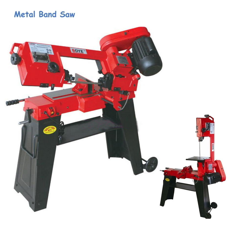 Metal Band Saw 220V 750W Vertical Band Saw Woodworking Sawing Machine English Manual Wood Cutting Machine Power Tools GFW5012