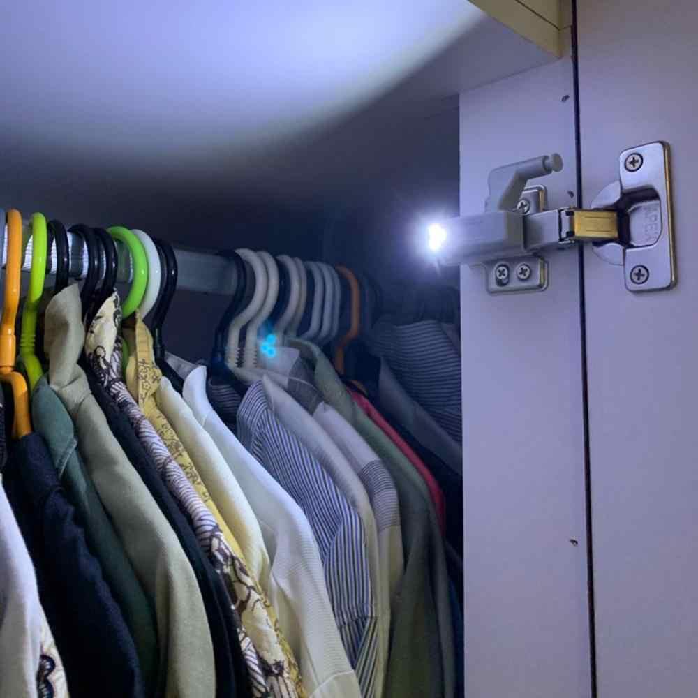 Universele Innerlijke Scharnier Led Sensor Lamp 0.3W Kast Garderobe Kast Deur 3 Leds Nachtlampje Automatische Schakelaar Aan/ off Lamp