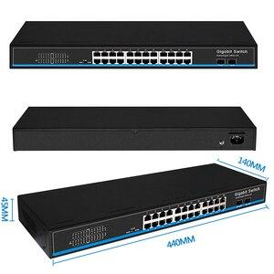 Image 5 - 16 Port  24 port RJ45 Gigabit Ethernet switch lan switch ethernet switch with 2 gigabit SFP for ip camera AP wireless