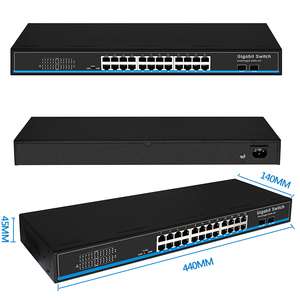 Image 5 - 16 portów 24 Port RJ45 przełącznik Gigabit Ethernet lan przełącznik ethernet przełącznik z 2 gigabit SFP do kamery ip AP bezprzewodowy