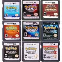 DS игровой картридж, консоль, карта Pokeon серии, черный, белый, сердечко, золото, серебро, бриллиант, жемчуг, платина, версия США для Nintendo DS