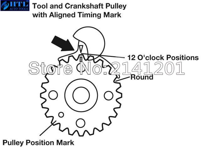 Купить с кэшбэком 6pc Universal Diesel Engine Timing Cam Crank Locking Tool Set For VW AUDI T10050 T10100