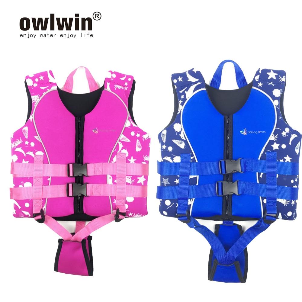 Professional Neoprene Life Jackets Baby Child Life Vest Water Sports Swimwear S M L 10-35kg Boy Girl Chlidren