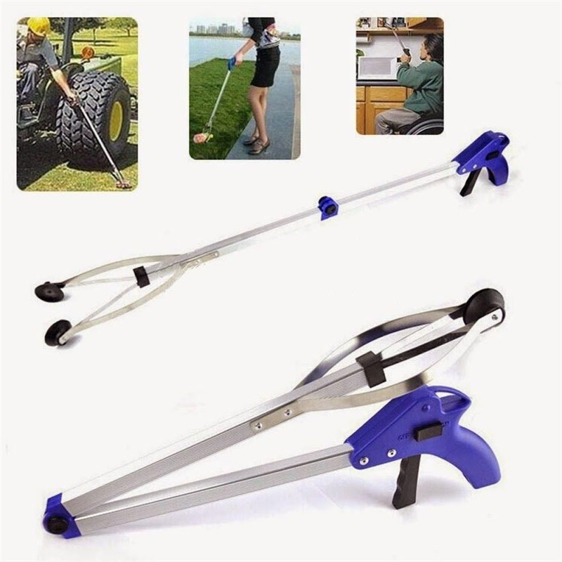 Foldable Pick Up Garbage Gripper Long Arm Helping Hand Gripping Tool Bending Save Tongs Picking Rubbish Drop Shipping