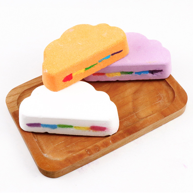 New Hot Bath Salt Rainbow Soap Ball Skin Care Handmade Bath Bomb Bubble Massage SPA SMR88 5
