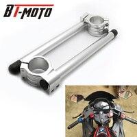 Cafe Racer Motorcycle Handlebar Racing Adjustable Carbon Fiber 36/37/38/39/41/45/46/48/50/51/52/53/54 mm Clip On Fork Handle Bar