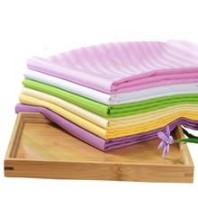 1 шт. профессиональный косметический салон полосатые простыни спа массаж кровать стол постельное белье с отверстием для салона красоты дома отеля