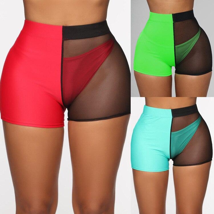 AliExpress Hot Selling 2019 Sexy Gauze Joint Transparent Gauze Beach Mock Two-Piece AussieBum Women's Su1793