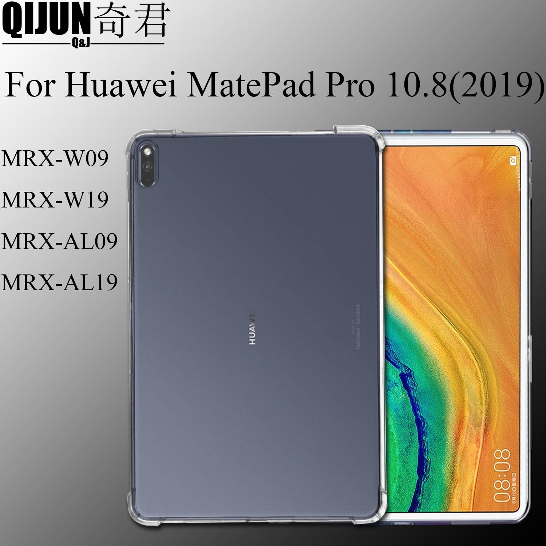 Чехол для планшета Huawei MatePad Pro 10,8 дюйма, силиконовый мягкий чехол из ТПУ, подушка безопасности, прозрачная защита для телефона/W19/AL09/AL19