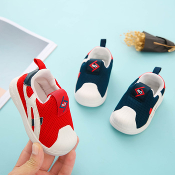 Kid Infant Toddler Shoes Baby First Walkers Shoes 2020 Spring Girls Boy Casual Mesh Shoes Soft Bottom Comfortable Non-slip Shoes