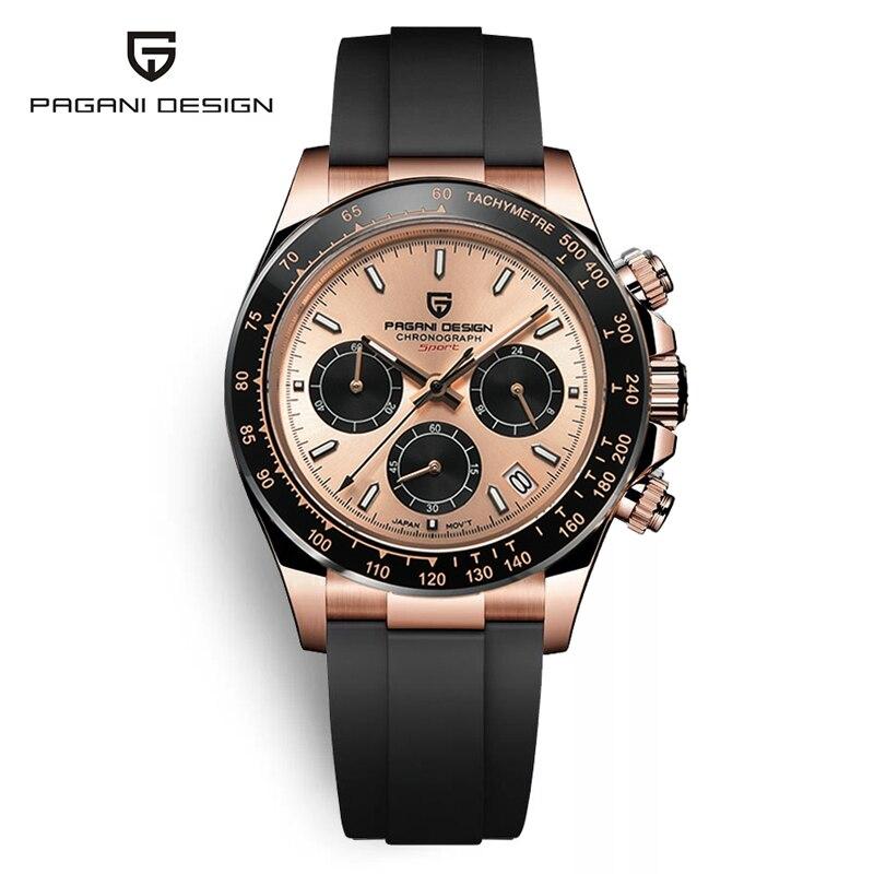 2021 новые дизайнерские мужские часы PAGANI, золотые Роскошные Кварцевые часы Daytona, мужские спортивные часы с хронографом 100 м, водонепроницаемые...