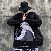 Naruto Adolescent Ninja T Shirt Uzumaki Sasuke Uchiha Men T-shirt Casual Vintage TShirt Printed Long Sleeve Shirts