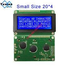 Ücretsiz kargo 2 adet küçük mini boy 2004 20*4 lcd ekran 77*47mm mavi 5v 2004E yerine WH2004D PC2004 C