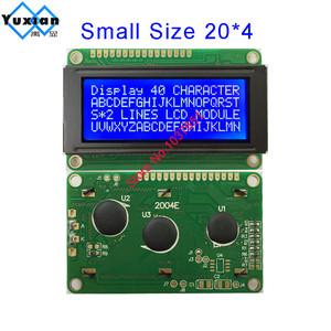 Image 1 - free shipping 2PCS small mini size 2004 20*4 lcd display 77*47mm Blue 5v 2004E instead WH2004D PC2004 C