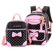 Wodoodporne torby szkolne dla dzieci dziewczyny plecaki dla księżniczek plecaki z nadrukiem dla dzieci zestaw tornistrów plecaki do szkoły podstawowej Mochilas tanie tanio Kamida Nylon zipper kids bags 21cm 32cm 45cm