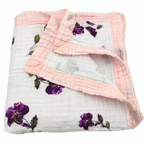 Image 5 - winter blanket lemon & rainforest 4 layer 100% cotton muslin baby blankets for newborn swaddle wrap bedding swaddling