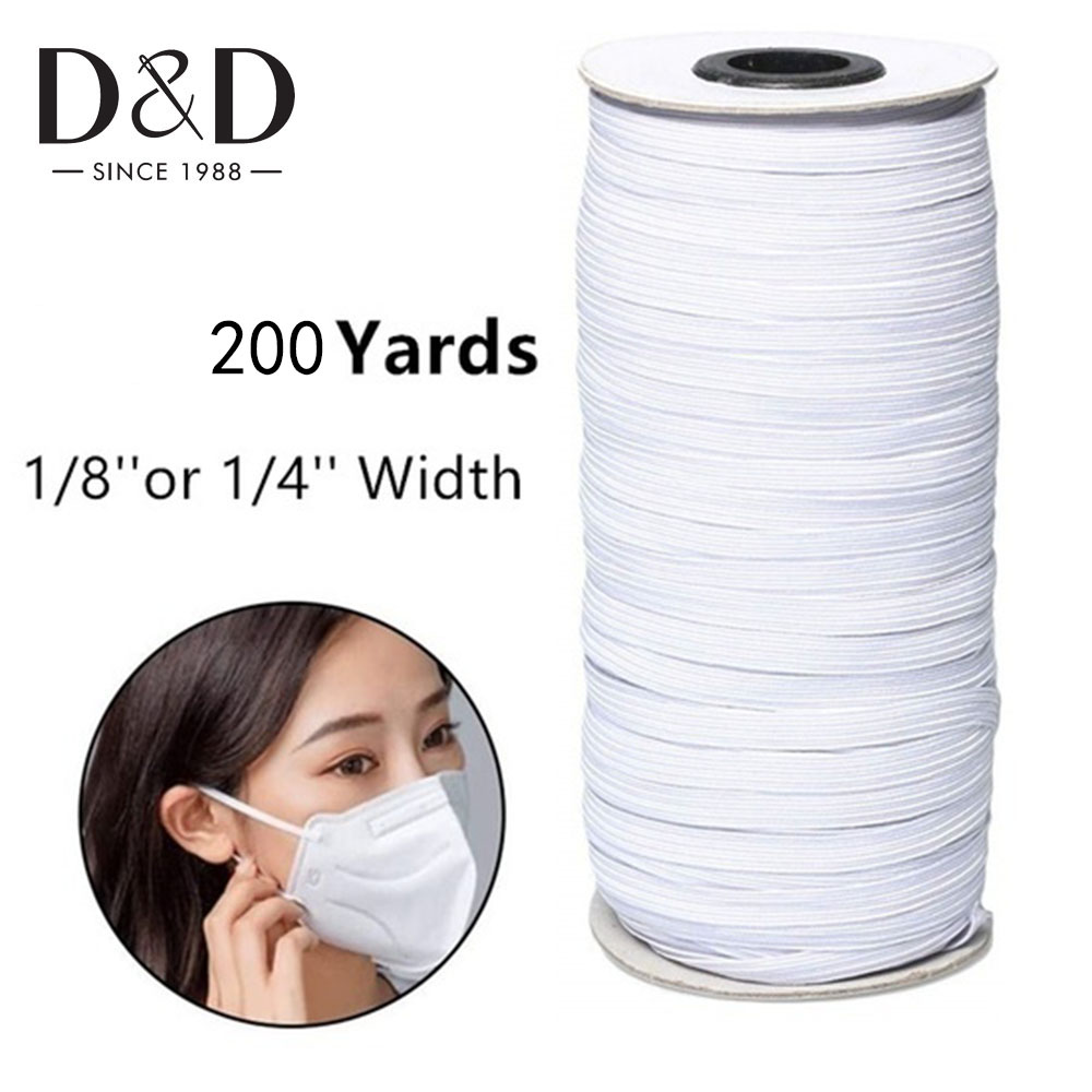 200 Yards Elastic Band 3mm 6mm Sewing Elastic Band Rubber Band For Sewing Fabric Clothes Band DIY Sewing Garment Accessories