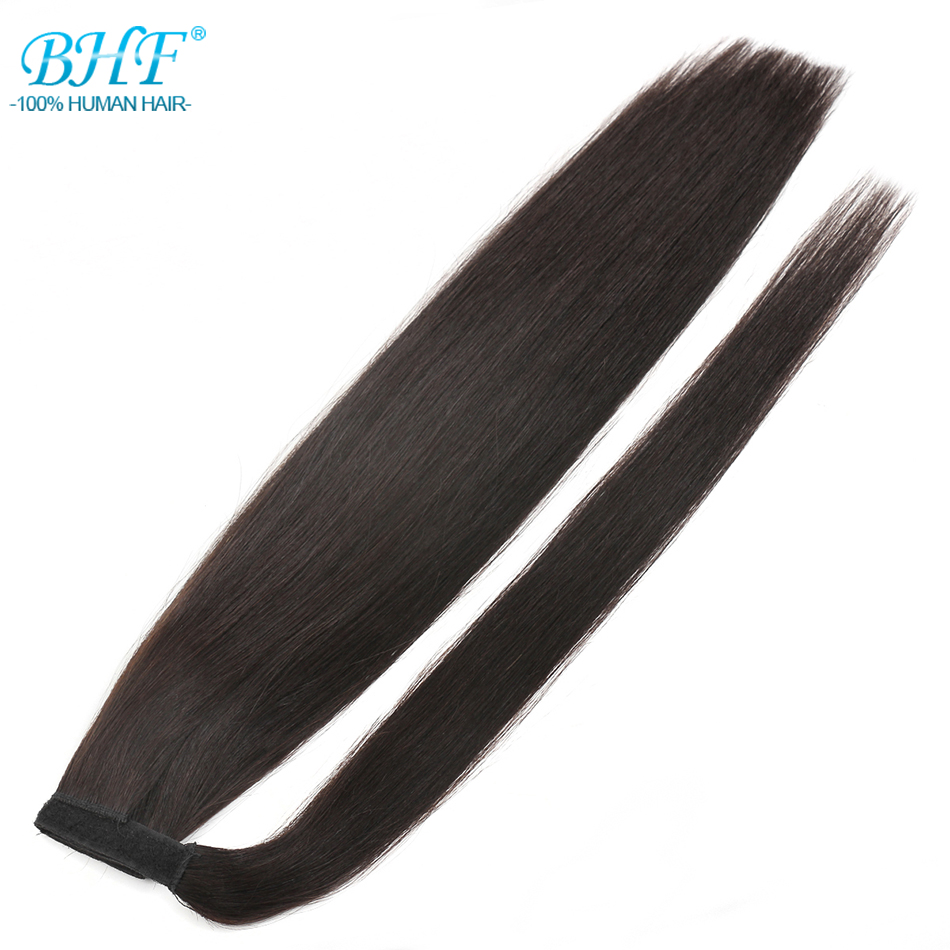 BHF Straight Ponytail Human Hair European Remy Human Hair Ponytail Extensions 24