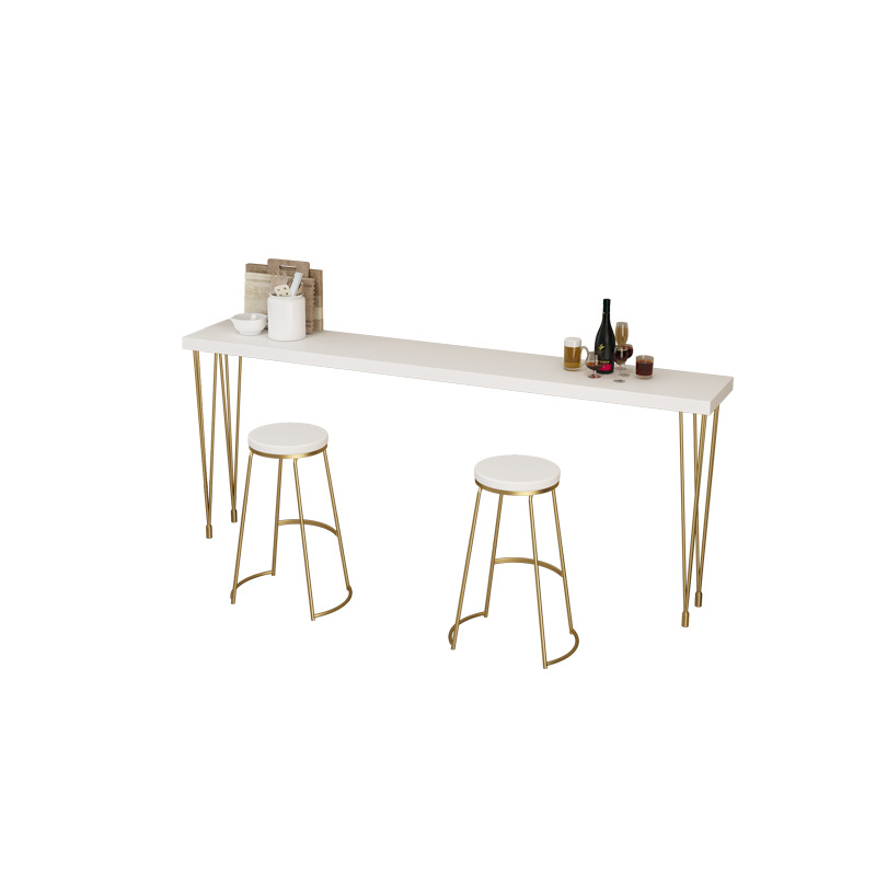 Nordic Wrought Iron Bar Chair   Modern Minimalist High Stool Creative Coffee  Front Desk  Dining