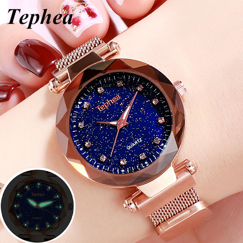 Starry Sky Ladies Wrist Watches For Women Quartz Magnetic Women Bracelet Watch Luxury Luminous Relogio Feminino 2019 Reloj Mujer