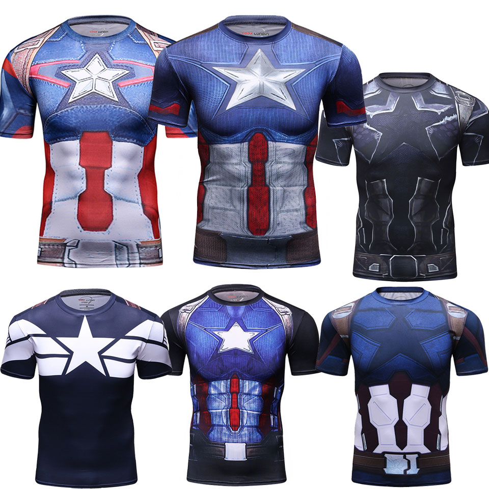 MMA Clothing 3D Avengers Batman Muay Thai Printed Kickboxing Shirt Mma Rashguard Jiu Jusit T Shirt BJJ Boxe Fight Boxing Jerseys