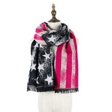 jzhifiyer YX114 270g New Designer Scarf 200*65cm Wool Winter Women Scarves Five Stars Blanket Long Cashmere