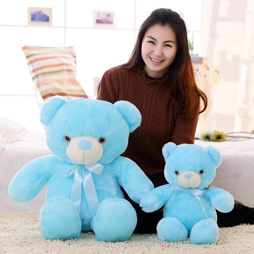 Luminous 50cm Creative Light Up LED Colorful Glowing Teddy Bear Stuffed Animal Plush Toy Children's Day Gift for Kid