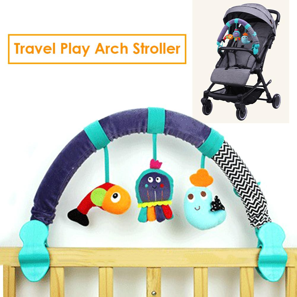 Baby Crib Hanging Toy Arch Pendant Animal-shape Toys Crib Stroller Pendant Baby Fun Toys Stroller Accessories