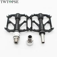 TWTOPSE Titanium Quick Release Bicycle Pedal For Brompton Folding Bike Pedals Carbon Cover EZY Birdy CNC 3 Bearings 70*77mm 199g