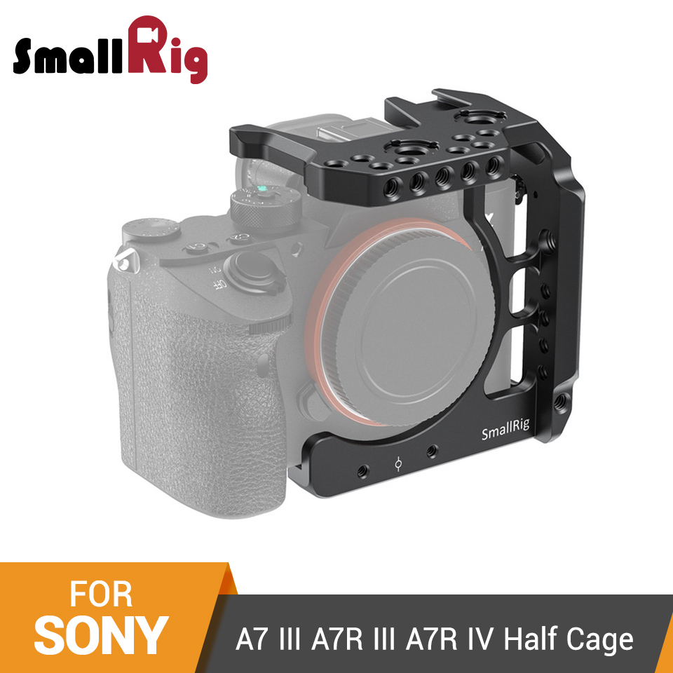 SmallRig Half Cage For Sony A7 III A7R III A7R IV Dslr Camera Cage With NATO Rail/ Cold Shoe Video Shooting Cage Kit  -  2629