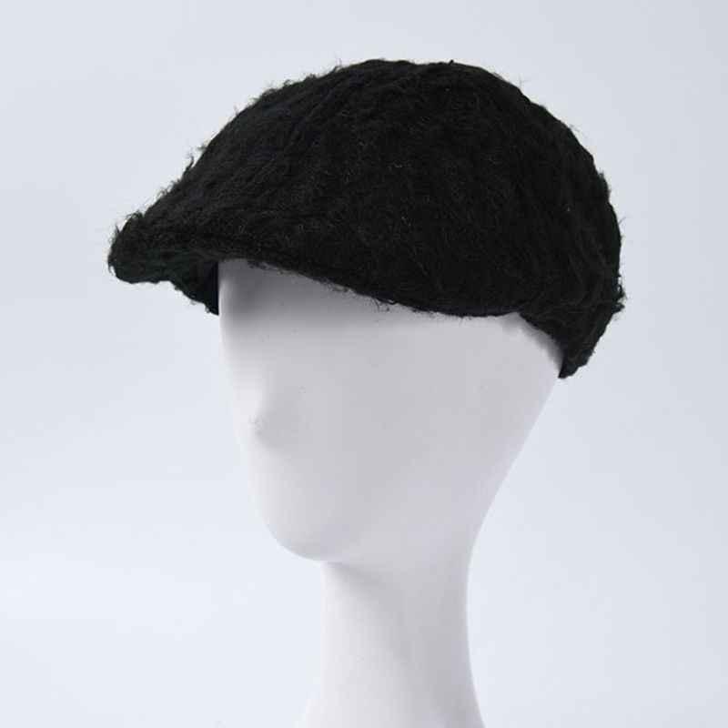 겨울 솔리드 컬러 모헤어 어부 모자 여자 남자 휴대용 두꺼운 따뜻한 양동이 모자