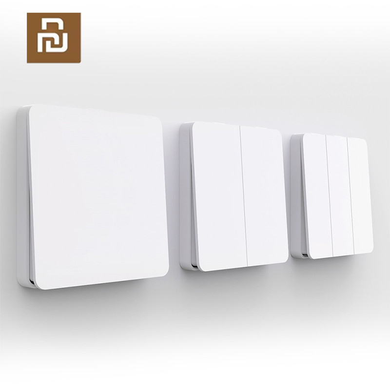 Xiaomi Mijia Smart Switch Wall Switch Single Double Three Open Control Modes Over Intelligent Lamp Light Switches