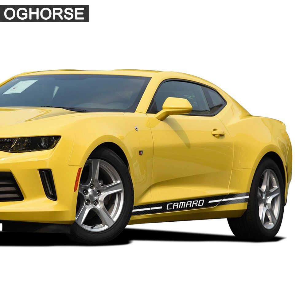 2 Pcs del Portello di Automobile Da Corsa Gonna Lato Stripes Adesivi Decalcomania Del Corpo Per Chevrolet Camaro LT SS RS LS Z28 ZL12010-present accessori