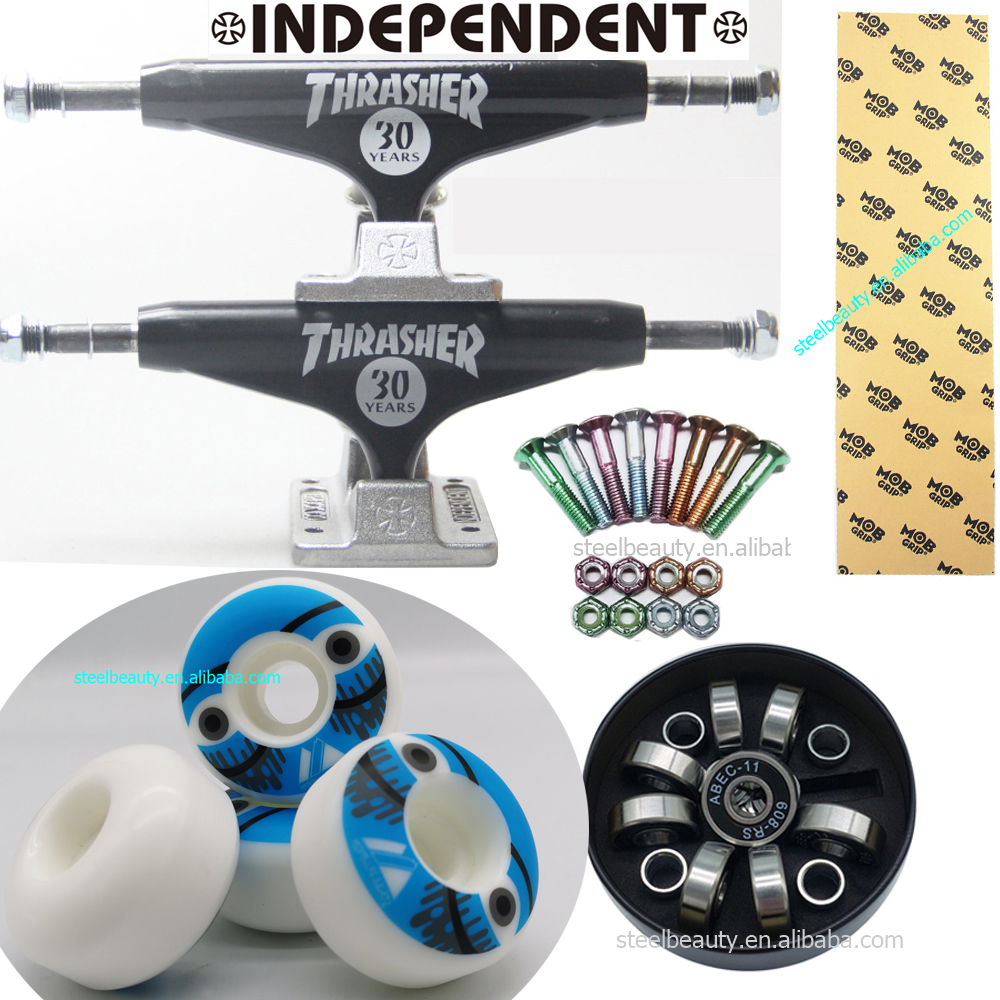 Independent Skateboard Trucks MOB Grip Tape 105A Round Skateboard Wheel Bearings And Screws Dish Good Quality Professional Level