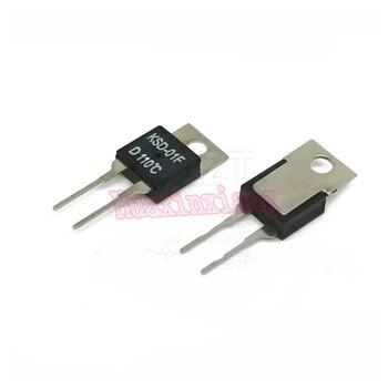 10 unids/lote KSD-01F a-220 interruptores de temperatura Sensor de termostato normalmente abrir H y normalmente cerrado D 40 grados-130 grados