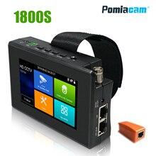 IPC1800S 4-дюймовый коаксиальный HD 4,0 CCTV тестер монитор 4 к H.265 IP 8MP CVI TVI AHD CVBS камера тестер с PTZ контроль обновление